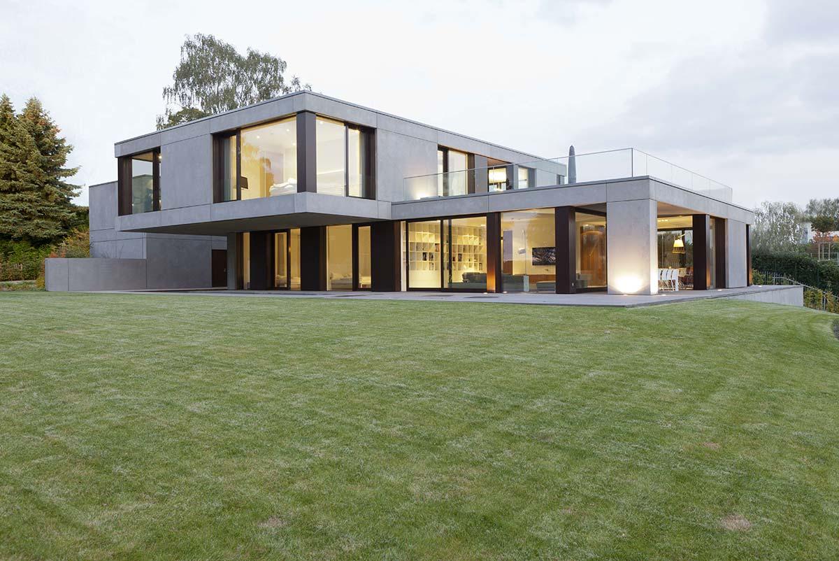 Portfolio wrede architekten - Moderne architektur hanghaus ...
